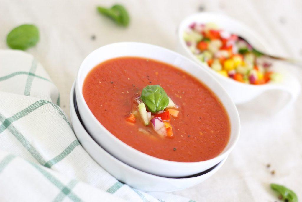 paprika soep met courgette